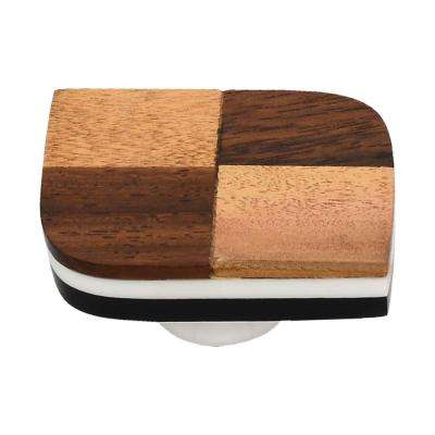 Wave 1-7/9 in. Checkered Cabinet Knob