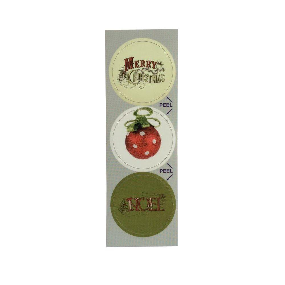 Christmas Classic Decorative Bathroom Sink Stopper Laminates (Set of 3)