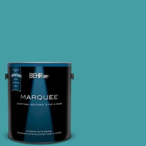 Behr Marquee 1 Gal M460 6 Thai Teal Semi Gloss Enamel Exterior Paint And Primer In One 545301 The Home Depot