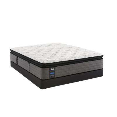 Response Performance 14 in. Queen Plush Euro Pillowtop Mattress Set with 5 in. Low Profile Foundation