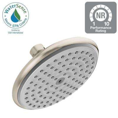 Raindance E 150 AIR Green 1-Spray 6 in. Showerhead in Brushed Nickel