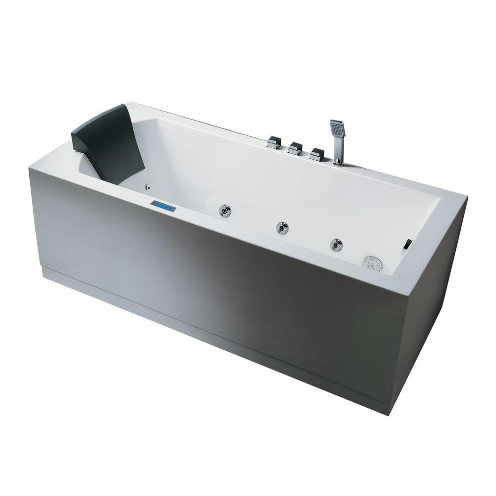 Ariel 5 ft. Right Drain Bathtub in White-AM154JDTSZ-R-59 - The Home ...