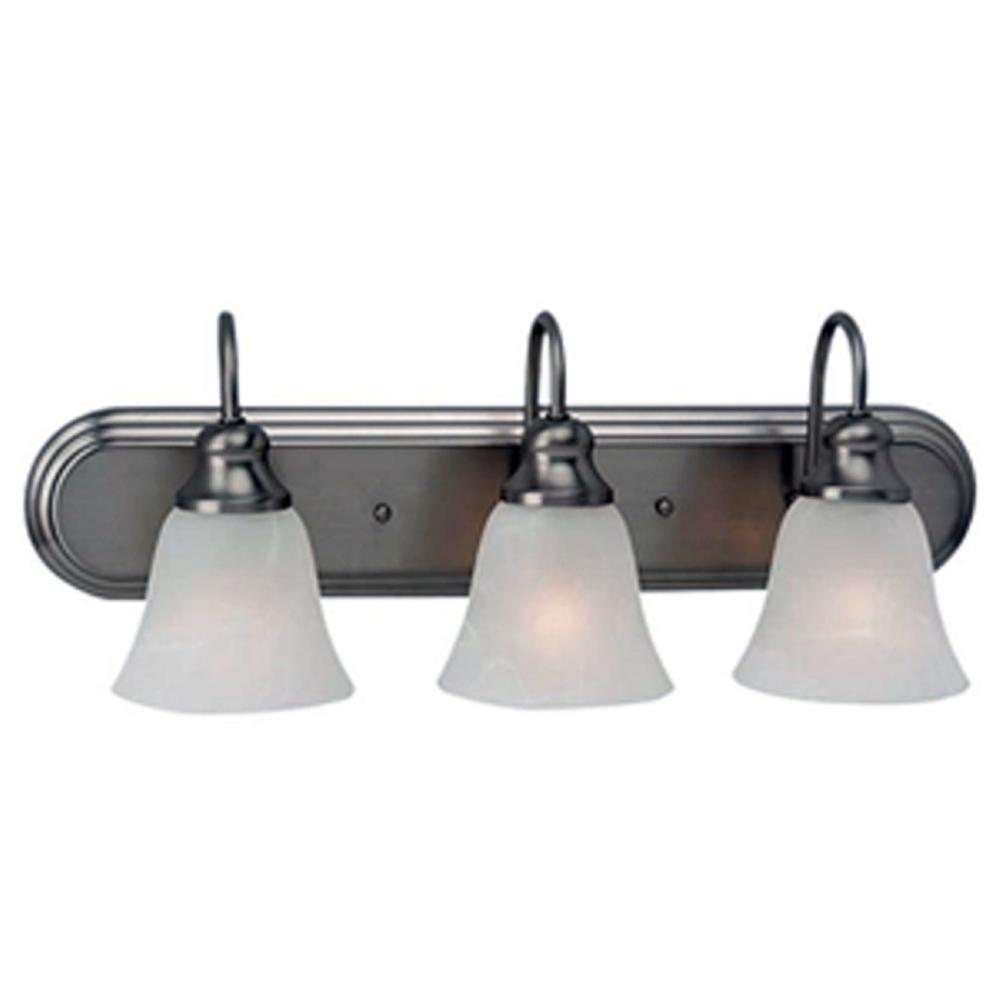10-Watt 3-Light Brushed Nickel Finish Vanity Light