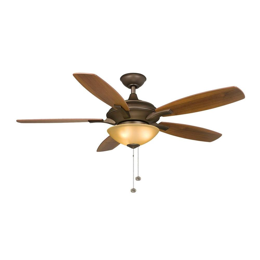 Hampton Bay Springview 52 In. Indoor Oil Rubbed Bronze Ceiling Fan With  Light Kit 14920   The Home Depot