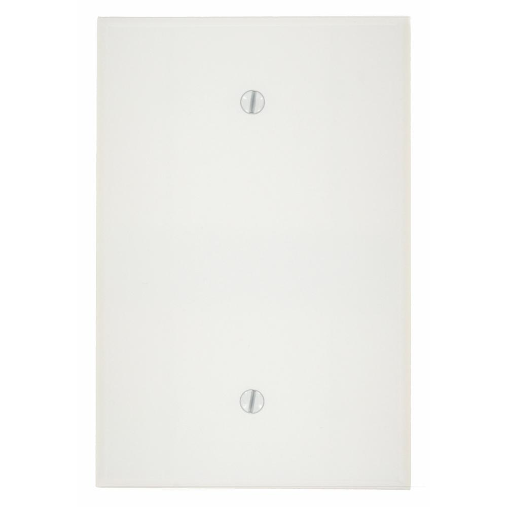 1-Gang No Device Blank Plastic Jumbo Wall Plate, White