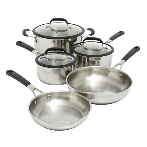 undefined Belton 8-Piece Stainless Steel Cookware Set with Lids