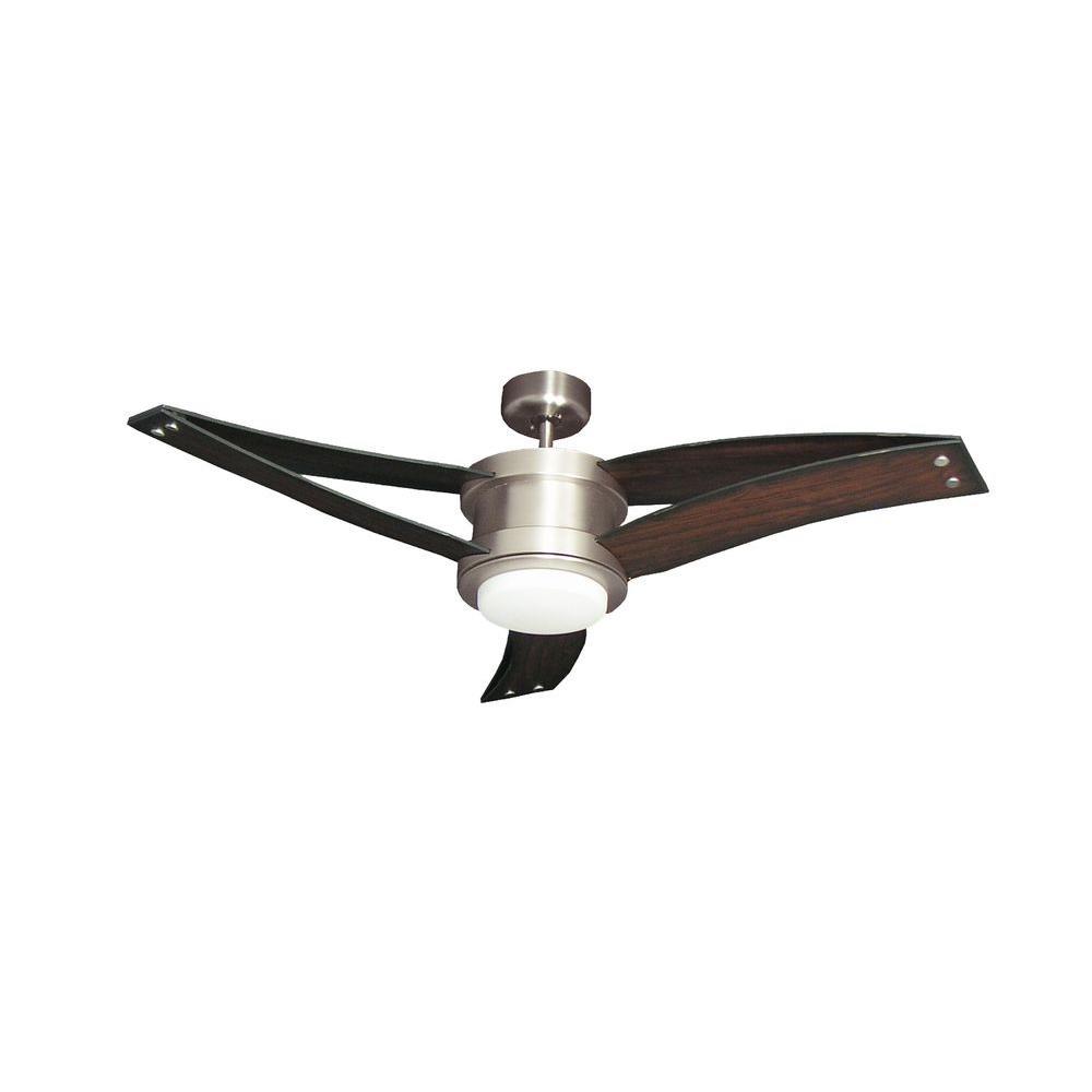 TroposAir Triton II 52 In. Satin Steel Ceiling Fan