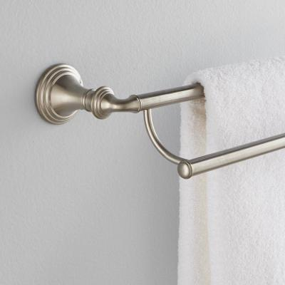 Devonshire 24 in. Double Towel Bar in Vibrant Brushed Nickel