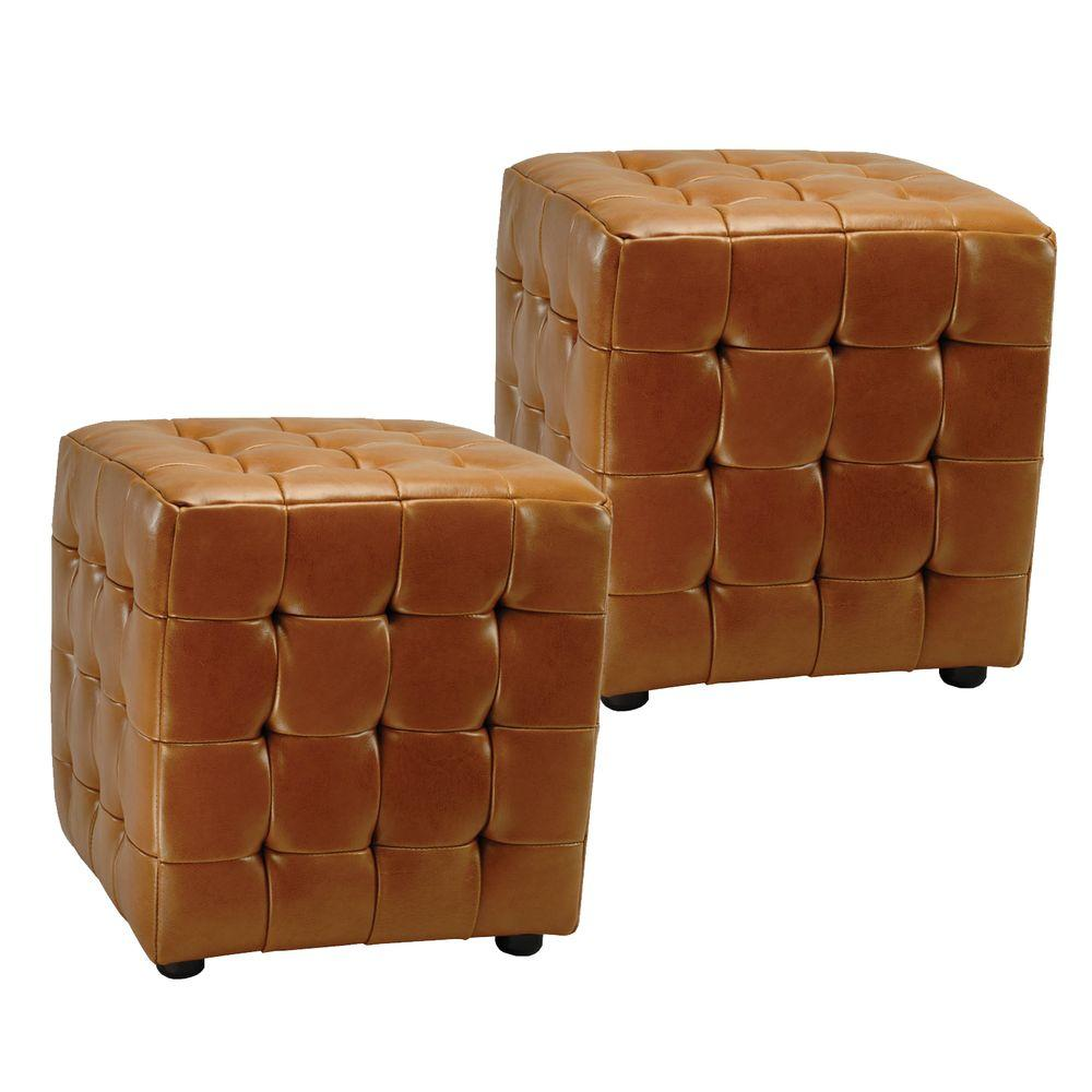 Home Decorators Collection Jane Square Ottoman (Set of 2)