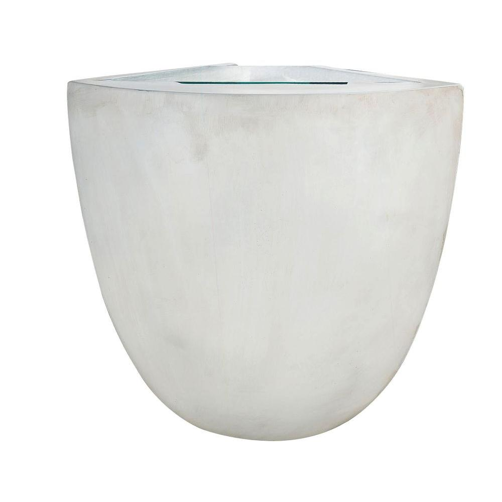 Kenroy Home Holcombe Lighted 13 in. White Corner Shelf Sconce-DISCONTINUED