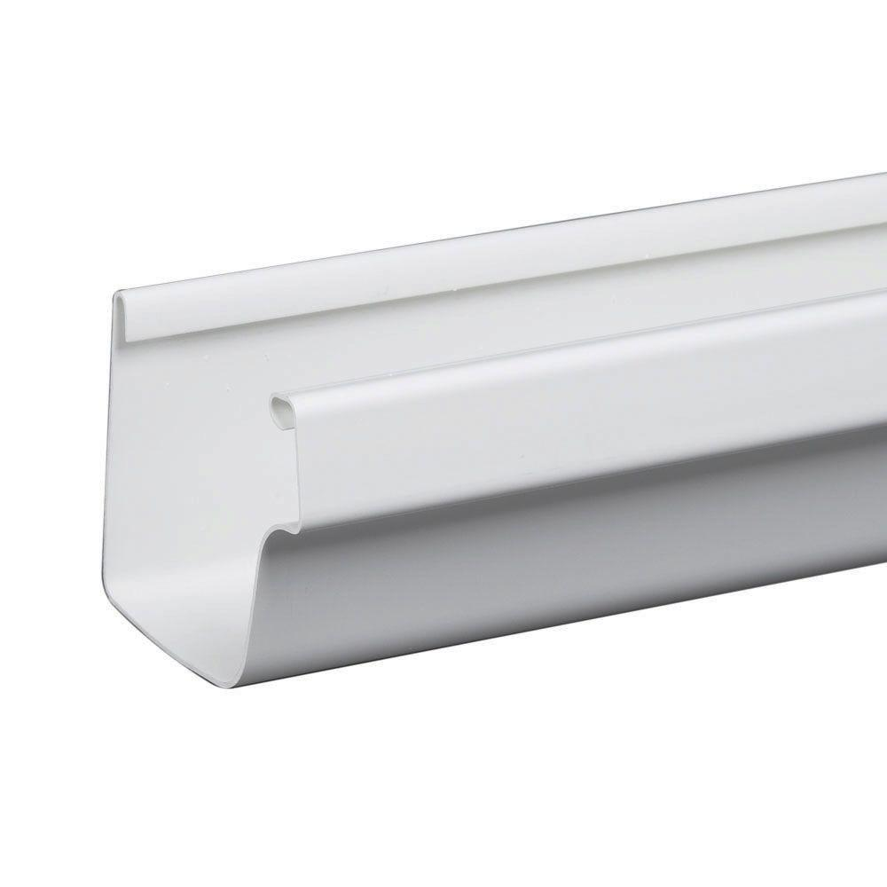 10 ft. White Traditional Vinyl Gutter