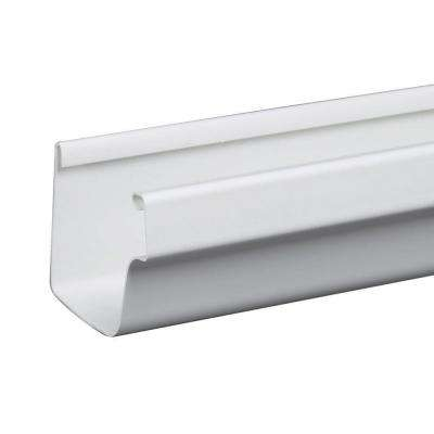 5 in. x 10 ft. White Traditional Vinyl Gutter
