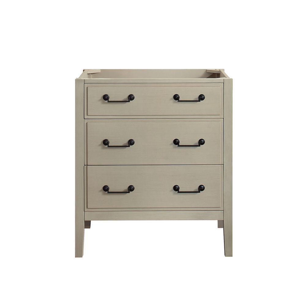 Delano 30 in. W x 21.5 in. D x 34 in. H Vanity Cabinet in Taupe Glaze