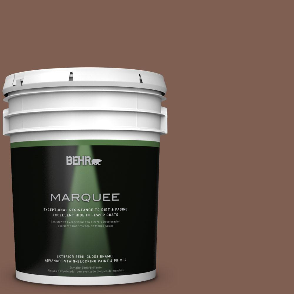 5-gal. #N160-6 Spanish Chestnut Semi-Gloss Enamel Exterior Paint