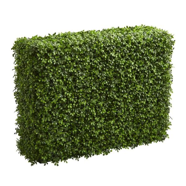 Indoor/Outdoor 39 in. Boxwood Artificial Hedge