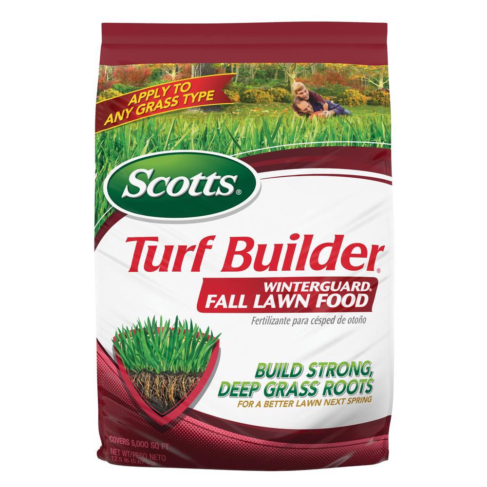 Scotts Turf Builder 37 5 Lb 15 000 Sq Ft Winterguard Fall Lawn Fertilizer 38615 The Home Depot