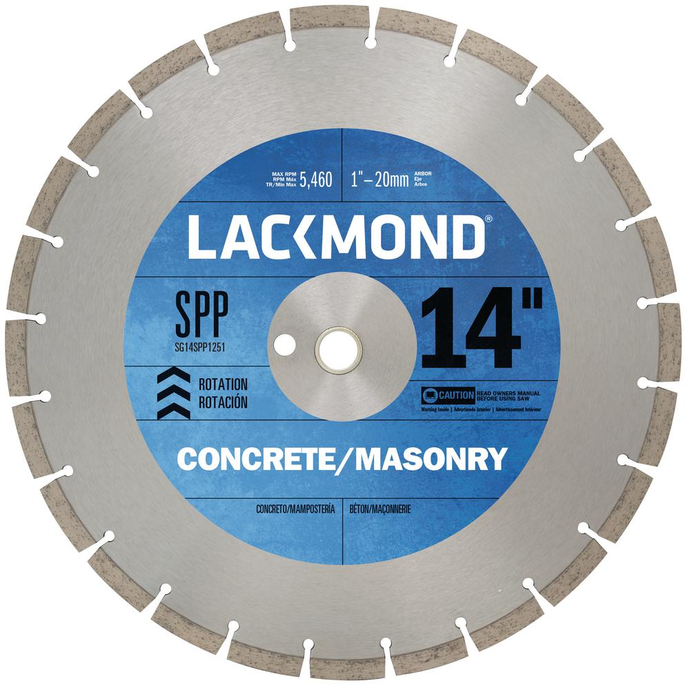 14 in. High Speed Segmented Diamond Blade for Cured Concrete and