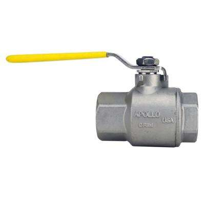 1 in. Stainless Steel FNPT x FNPT Full-Port Ball Valve