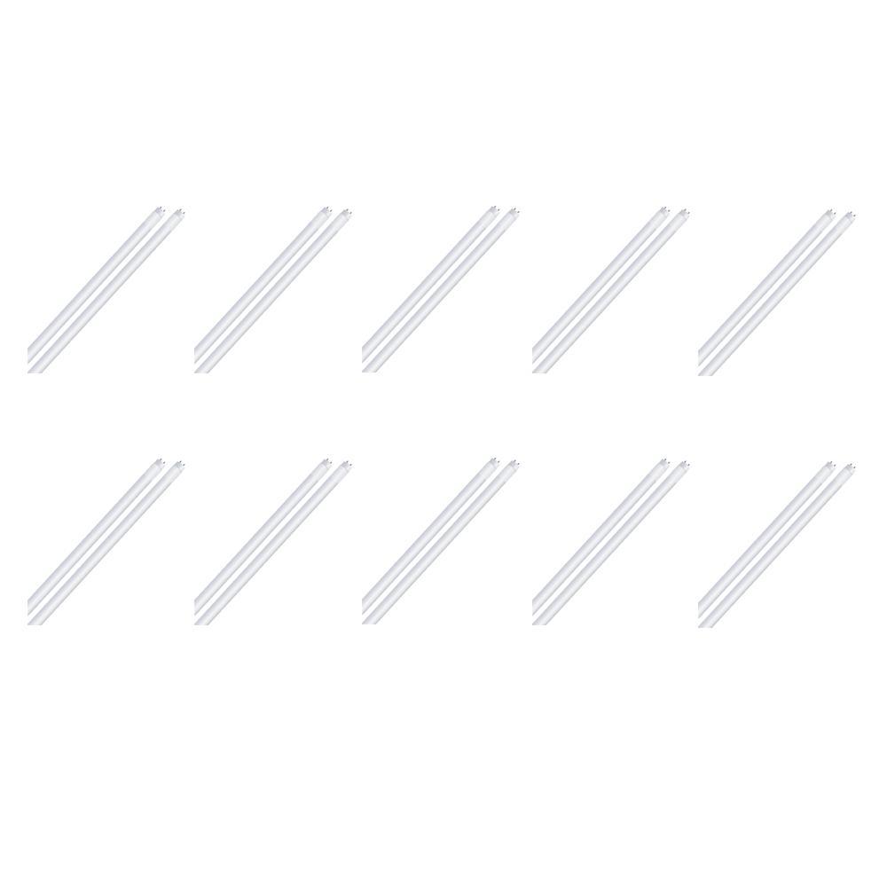 14-Watt 4 ft. Linear T8 Plug and Play LED Tube Light Bulb, Warm White (10-Pack)