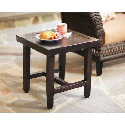 Woodbury Metal Outdoor Patio Accent Table