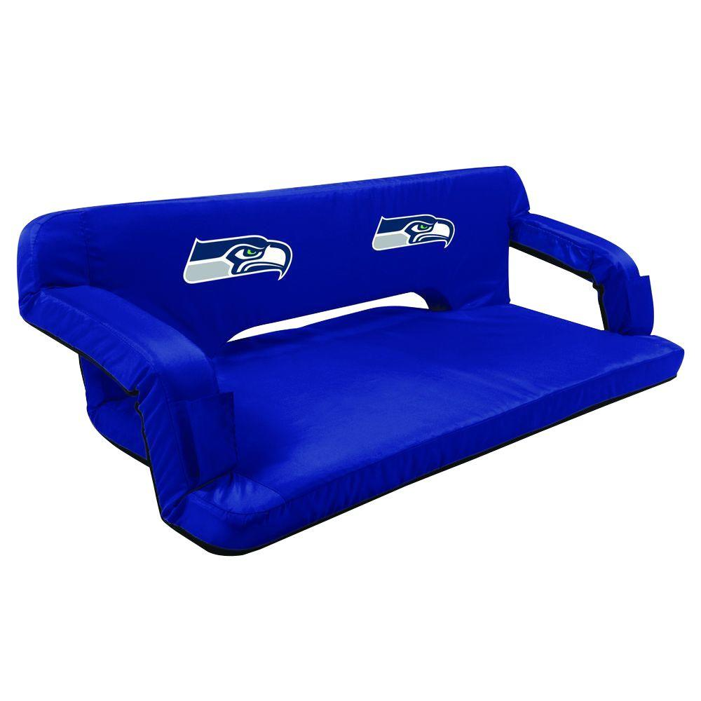 Picnic Time Seattle Seahawks Navy Reflex Travel Couch 628