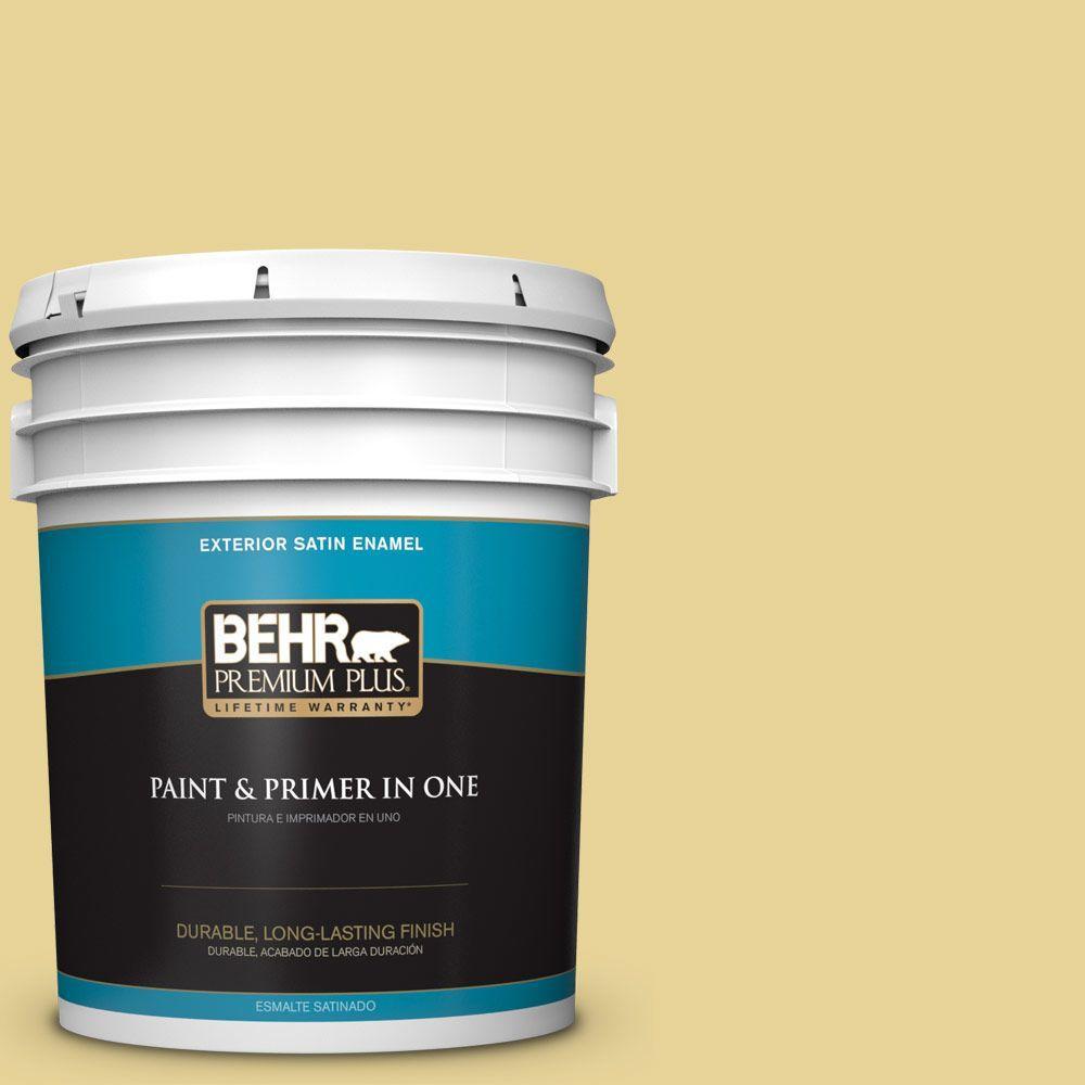 5-gal. #390D-4 Honey Beige Satin Enamel Exterior Paint