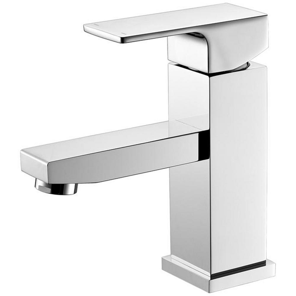 Luxurious Single Hole Single-Handle Bathroom Faucet in Chrome