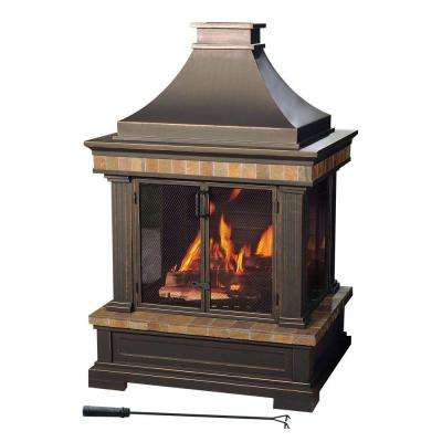 Amherst 35 in. Wood-Burning Outdoor Fireplace