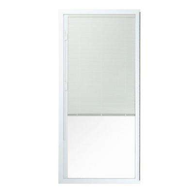 72 in. x 80 in. 50 Series White Vinyl Sliding Patio Door Right-Hand Fixed Panel with Blinds