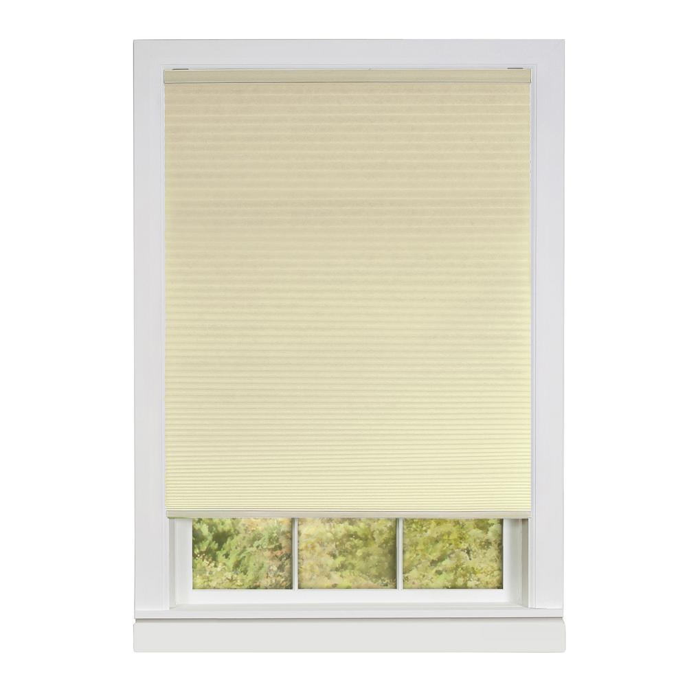 Honeycomb Alabaster Cellular Cordless Polyester Pleated Shade - 36 in. W