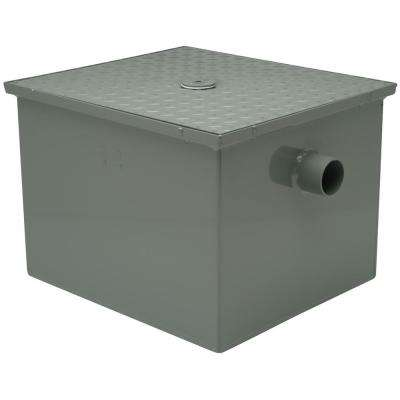 15 in. Steel Grease Trap with 3 in. No Hub Inlet