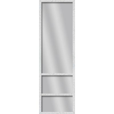 Large Rectangle White Art Deco Mirror (49.75 in. H x 13.73 in. W)