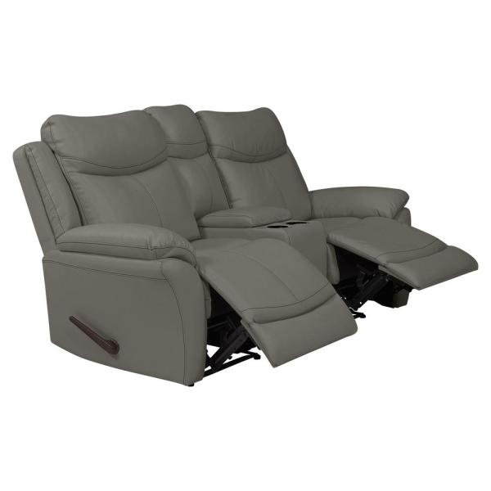Prolounger Taupe Gray Tuff Stuff Fabric 2 Seat Wall Hugger
