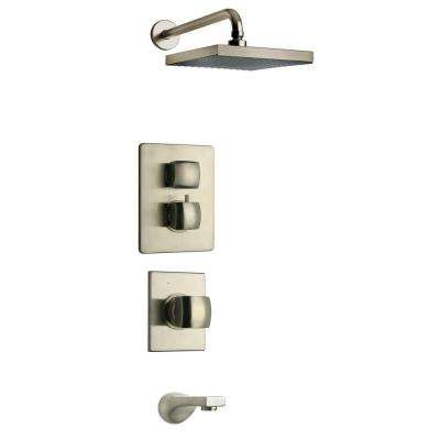 Lady Brushed Nickel Shower Combo 5