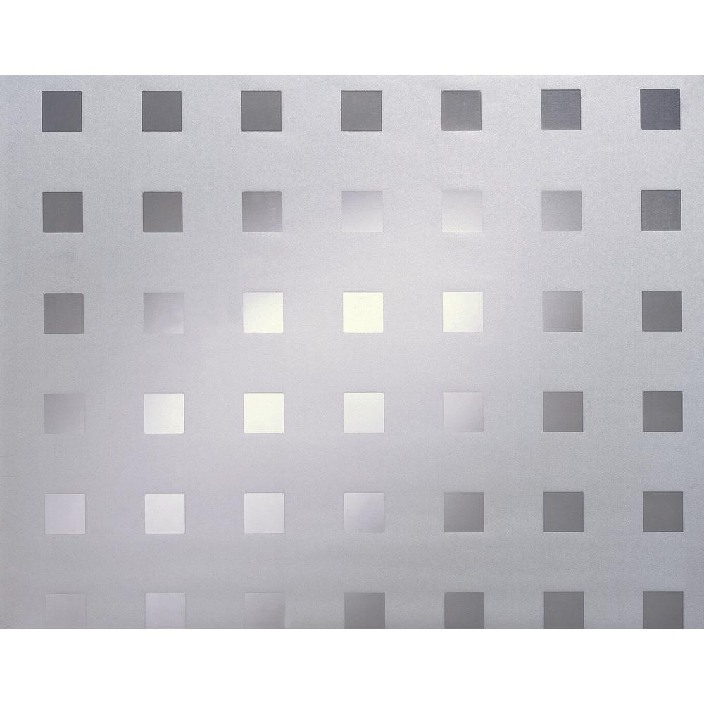 DC Fix Caree 26 in x 59 in. Home Decor Static Cling Window Film Caree is a frosted background with small clear squares. The uniform pattern gives you privacy, a modern design, yet allows light through illuminating the room area. Caree can be used on any windows or doors to give you the privacy you deserve at a price you can afford. Caree is great for transforming that clear glass shower into a private comfort zone in your bathroom.