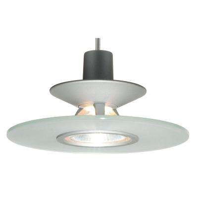 1-Light Frost Pendant Kit with Disc Glass