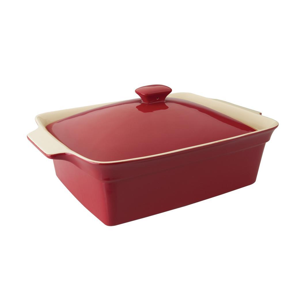 Stone Baking Dish : Berghoff geminis rectangular covered stoneware baking dish