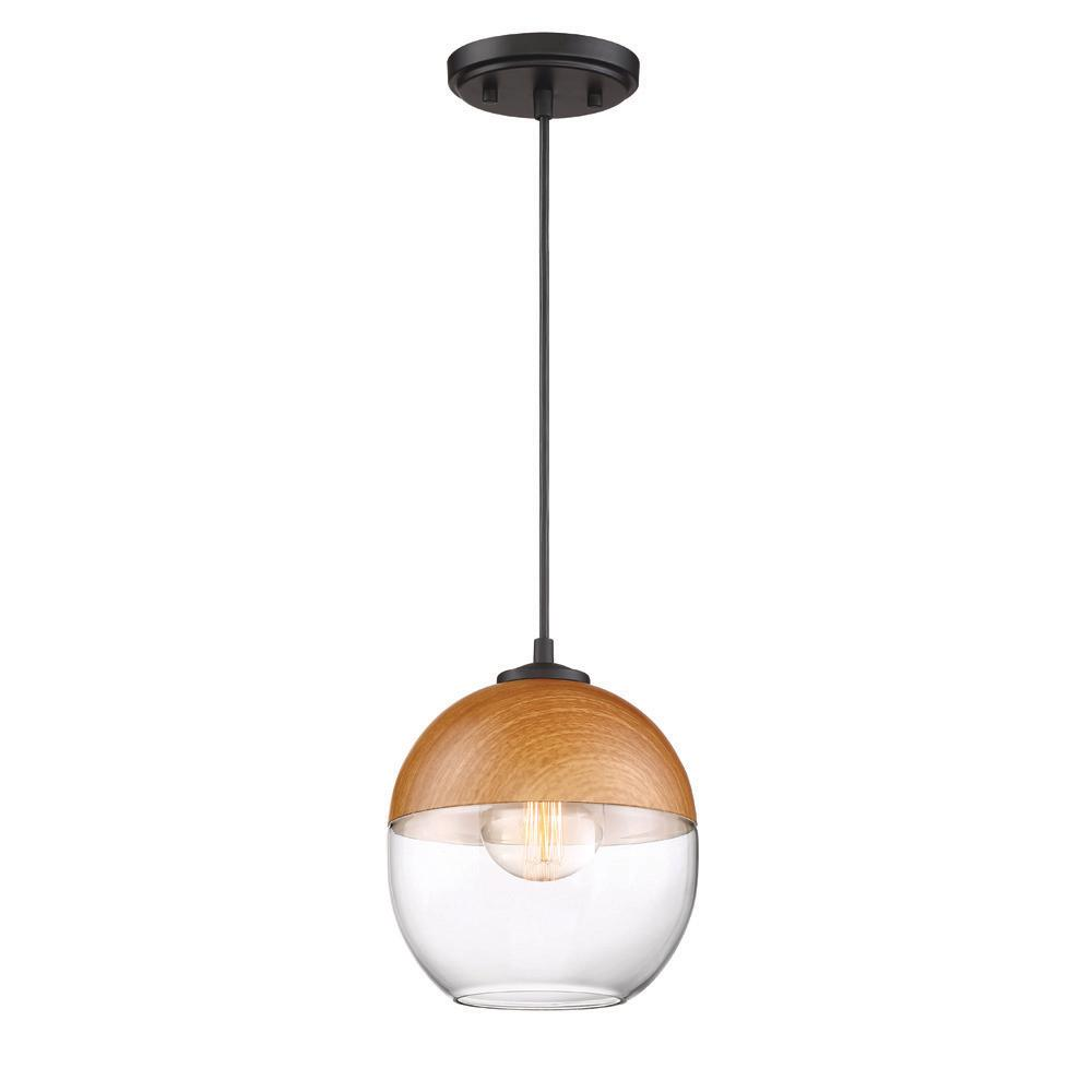 detailed look 9722c 4e895 Designers Fountain Kawena 1-Light Robusta Wood Style Finish Hanging Pendant