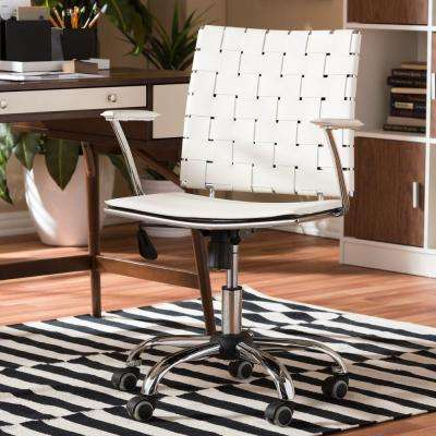 Vittoria White Bonded Leather Office Chair