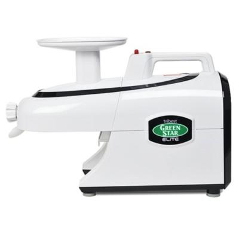 Greenstar Elite 24 fl. oz. Jumbo Twin Gear White Masticating Juicer