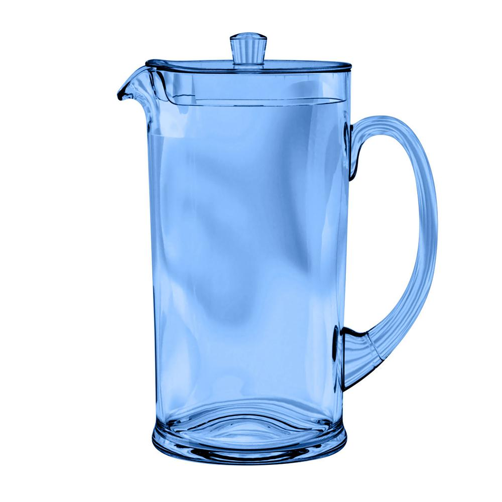 78 oz. Cordoba Soft Blue Pitcher with Lid (Set of 1)