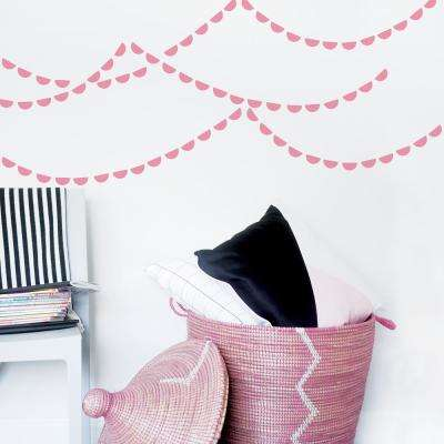 Pink Semi Circle Wall Decal