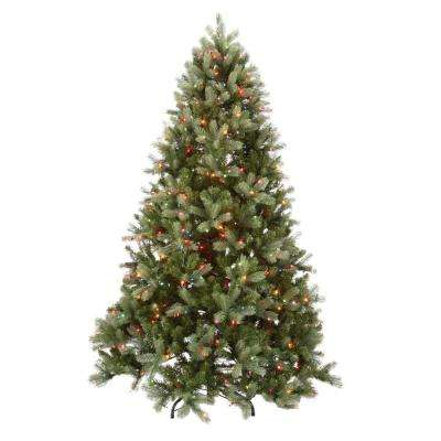 7.5 ft. Feel-Real Downswept Douglas Fir Hinged Tree with 750 Multi-Color Lights