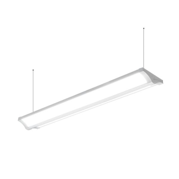 4 ft. 5000 Lumens Direct Indirect Commercial Integrated LED White Wraparound Light with Uplight Feature 4000K Dimmable