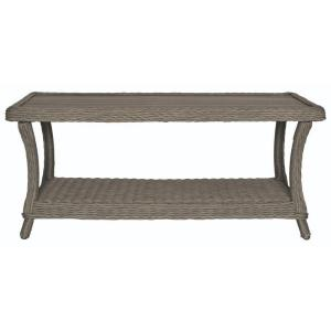 Home Decorators Collection Brighton Cove Faux Patio Wood Coffee Table 9438100210 The Home Depot