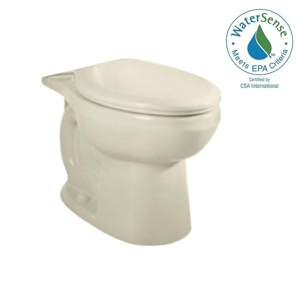 H2Option Siphonic Dual Flush Elongated Toilet Bowl Only in Linen