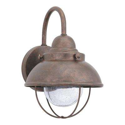 Sebring Weathered Copper Outdoor Integrated LED Wall Mount Lantern
