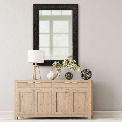 31.5 in. x 43.5 in. Rectangle Mocha/Bronze Hammered Decorative Beveled Mirror