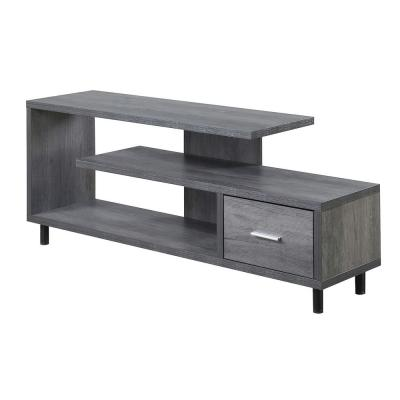 Seal II 59 in. Weathered Gray Particle Board TV Stand with 1 Drawer Fits TVs Up to 60 in. with Cable Management