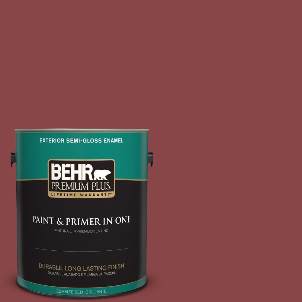 1 gal. #PPU1-10 Forbidden Red Semi-Gloss Enamel Exterior Paint